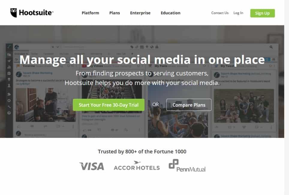 Social Media Marketing Management Hootsuite