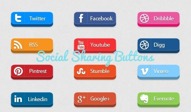 Drive traffic to your blog using Social Sharing buttons