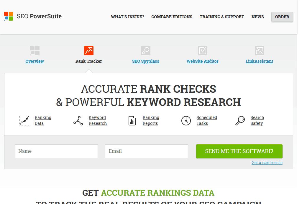 Rank Tracker - accurate SEO rankings keyword data