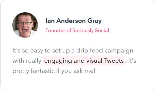 Ian Anderson - missinglettr testimonial