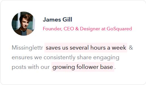 James Gill testimonial