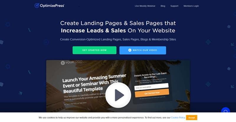 OptimizePress sales funnel tool