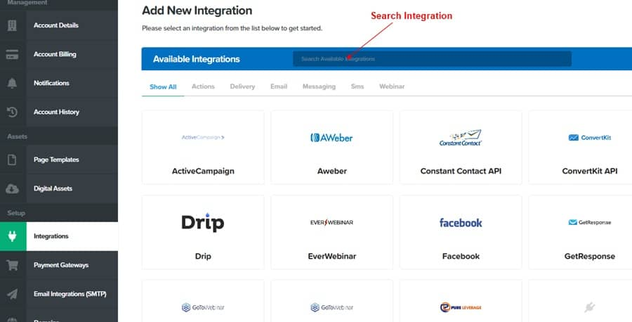 ClickFunnels integration