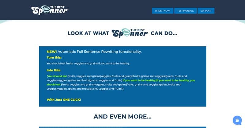 The Best Spinner Article Content rewriter