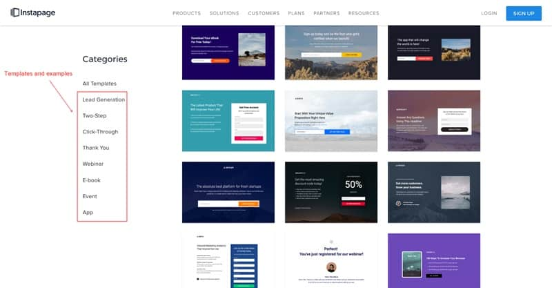 Instapage responsive landing page templates and examples