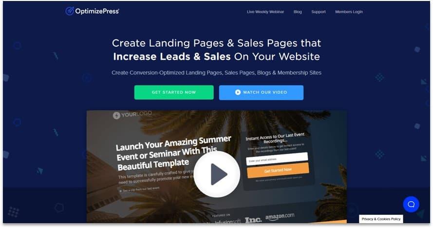 Optimizepress landing page creator