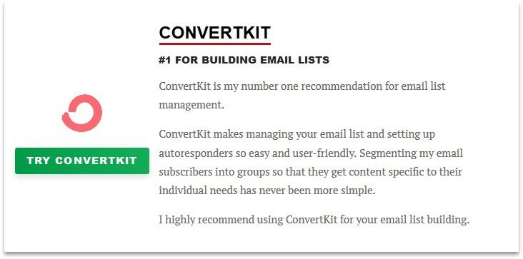 Pat Flynn resource page - ConverKit