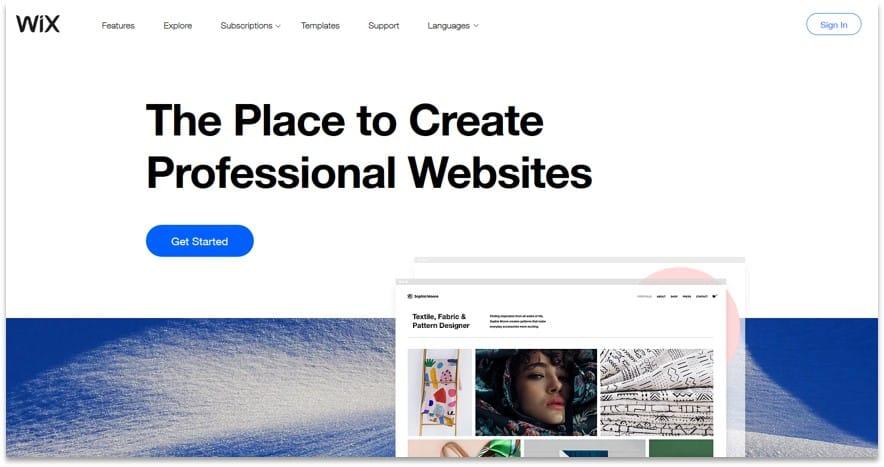 Wix website creation tool