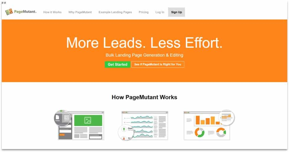 landing page management software