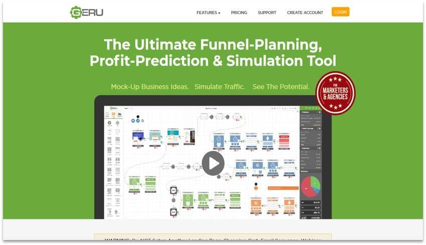 GERU funnel visualization