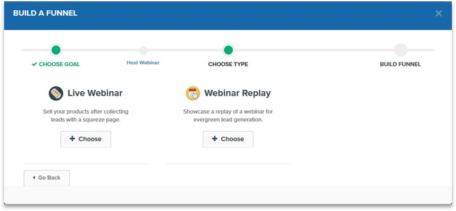 Build live webinar ClickFunnels