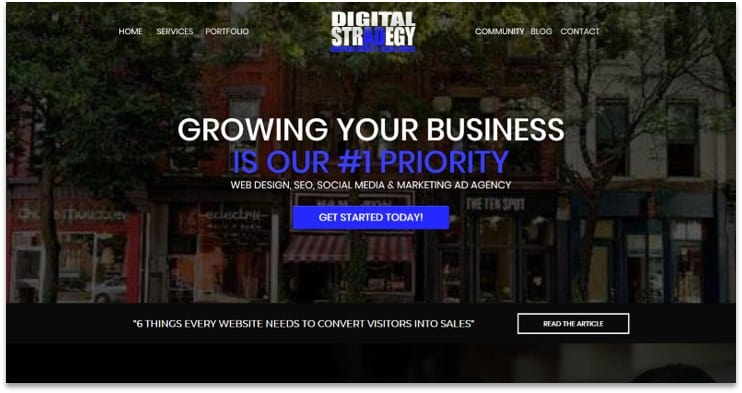 ClickFunnels digital agency template