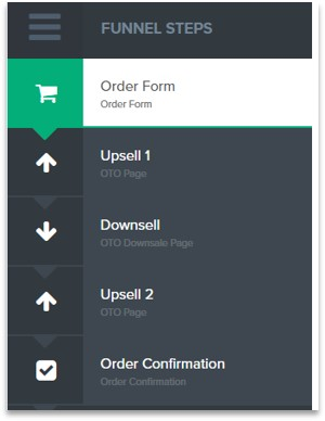 ClickFunnels shopping cart and order