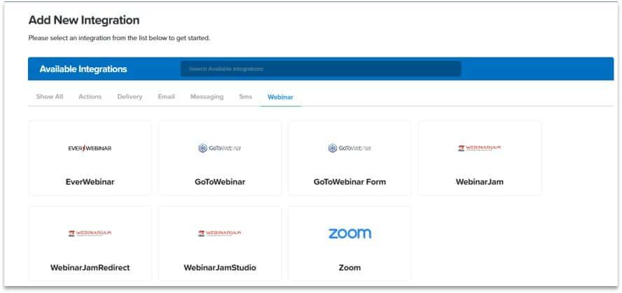 ClickFunnels webinar integration sofwares