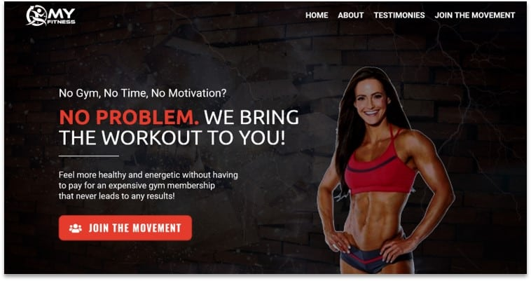 Fitness funnel template