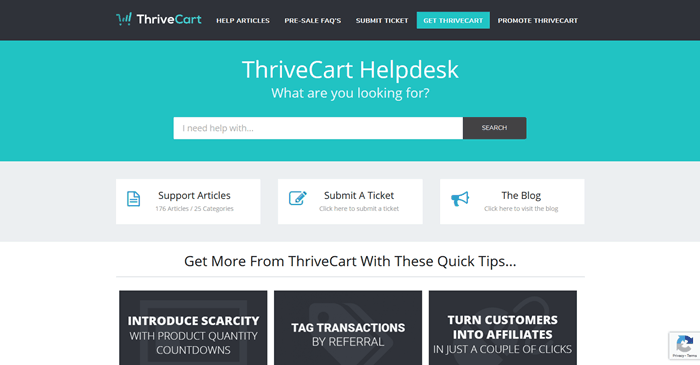 ThriveCart Helpdesk and Support Help