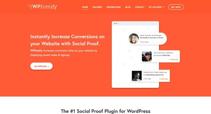 WPfomify Social Proof Plugin WordPress