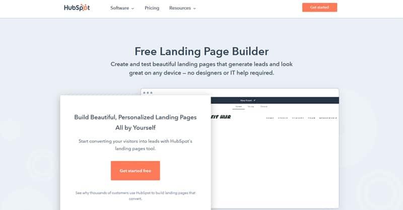 HubSpot Landing Page Builder Software