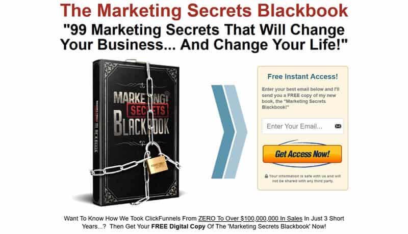 Marketing Secrets Blackbook squeeze