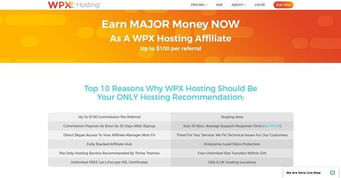 WPX Hosting affiliate