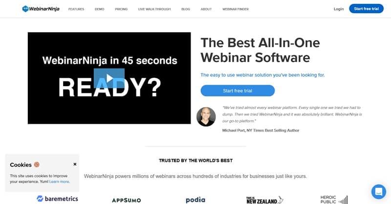 WebinarNinja software