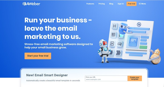 AWeber email software