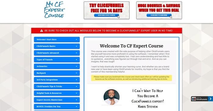 My CF Expert Course