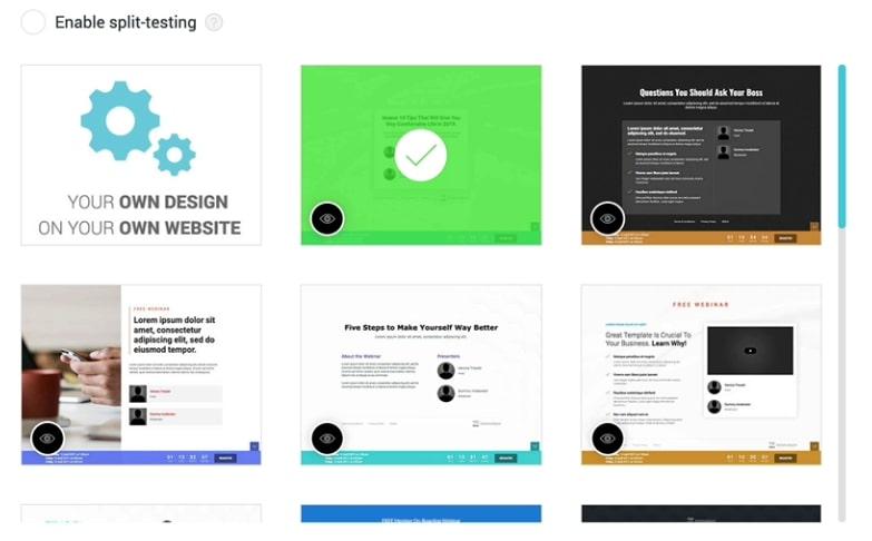 WebinarJam page templates