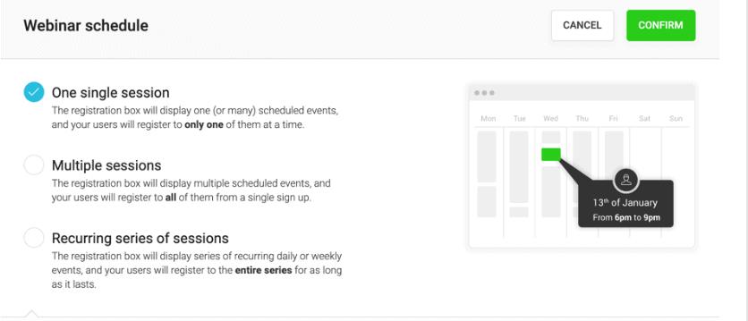 WebinarJam Scheduling