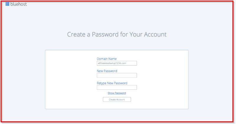bluehost password