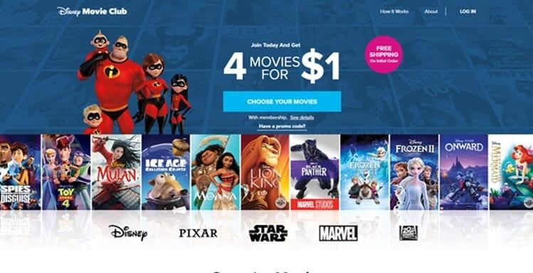 Disney Movie Club tripwire offer