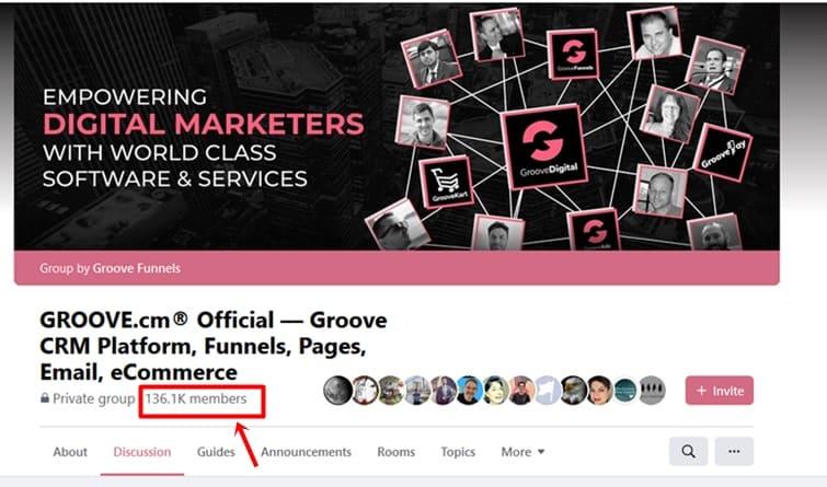 GrooveFunnels Facebook group