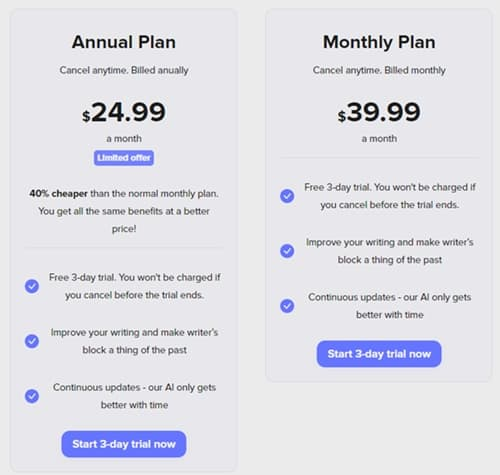 shortly ai pricing